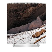 Gila Cliff Slope Shower Curtain