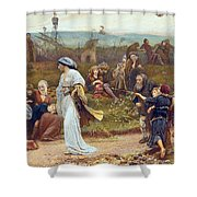 Gilbert A Beckets Troth The Saracen Maiden Entering London At Sundow  Shower Curtain by George John Pinwell