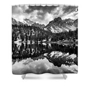 Gilbert Lake And University Peak Shower Curtain