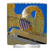 Gilded Eagle Shower Curtain