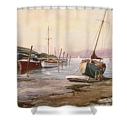 Gillingham Pier On The Medway Shower Curtain
