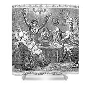 Gillray: Tavern, 1801 Shower Curtain