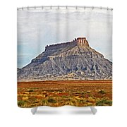 Gilson Peak Along The Colorado River Shower Curtain