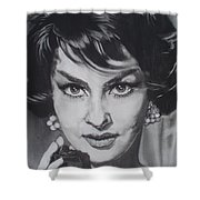 Gina Lollobrigida Shower Curtain