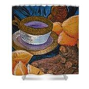 Ginger Lemon Tea 2 By Jrr Shower Curtain