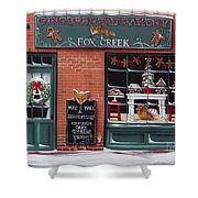 Gingerbread Bakery At Fox Creek Shower Curtain
