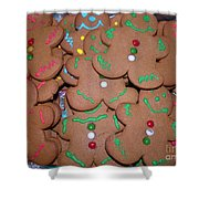 Gingerbread Cookies Shower Curtain