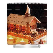 Gingerbread House, Traditional Shower Curtain