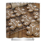 Gingerbread Man Cookies Shower Curtain