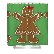 Gingerbread People Shower Curtain