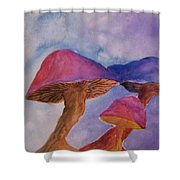 Gini's Shrooms Shower Curtain