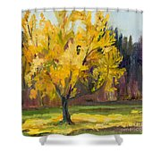 Ginko Glory Shower Curtain