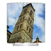 Giotto Campanile Tower In Florence Italy Shower Curtain