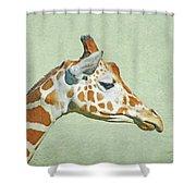 Giraffe Mug Shot Shower Curtain