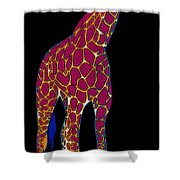 Giraffe Pop Art Shower Curtain