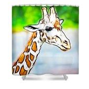 Giraffe Scrimshaw Shower Curtain