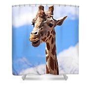 Giraffe Speak Shower Curtain