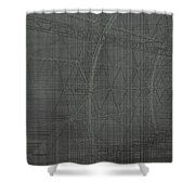 Girders Shower Curtain