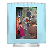 Girl At Carnival Social Occasion Celebrations Shower Curtain