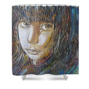 Girl By C215 Shower Curtain