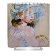 Girl Carrying A Basket Shower Curtain