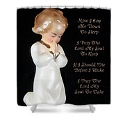 Girl Childs Bedtime Prayer Shower Curtain