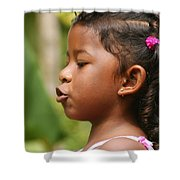 girl from Panama 3 Shower Curtain