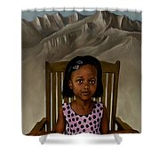 Girl From The Mountain Kingdom Shower Curtain