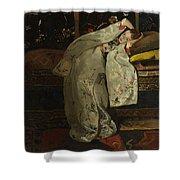 Girl In A Kimono Shower Curtain