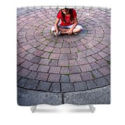 Girl In Circle Shower Curtain