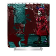 Girl In The Blood-stained Coat Shower Curtain