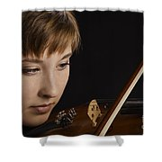 Girl Musician And Violin Or Viola Photograph Color 3361.02 Shower Curtain