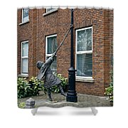 Girl On A Lamp Post Shower Curtain