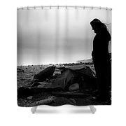 Girl On The Beach Shower Curtain