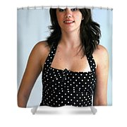 Girl On The Go Shower Curtain