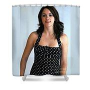 Girl On The Go Shower Curtain