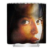 Girl Sans Variant Shower Curtain
