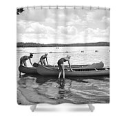 Girl Scout Canoe Test Shower Curtain