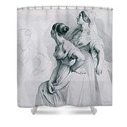 Girl Studies  1839 Shower Curtain