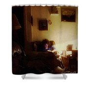 Girl With A Book Shower Curtain