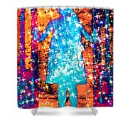Girl With A Ponytail Shower Curtain
