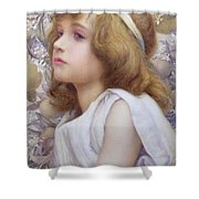 Girl With Apple Blossom Shower Curtain by Henry Ryland