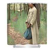 Girl With Bindle Shower Curtain