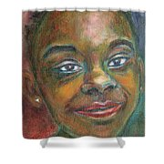 Girl With Diamond Earrings Shower Curtain