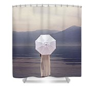 Girl With Parasol Shower Curtain
