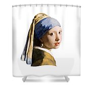 Girl With Pearl Earring Flip Side Shower Curtain