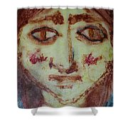 Girl With Red Hair Shower Curtain