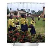 Girls On Field Day Shower Curtain