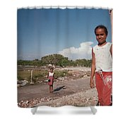 Girls Without Playground Shower Curtain