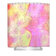 Girlz Only Abstract Shower Curtain